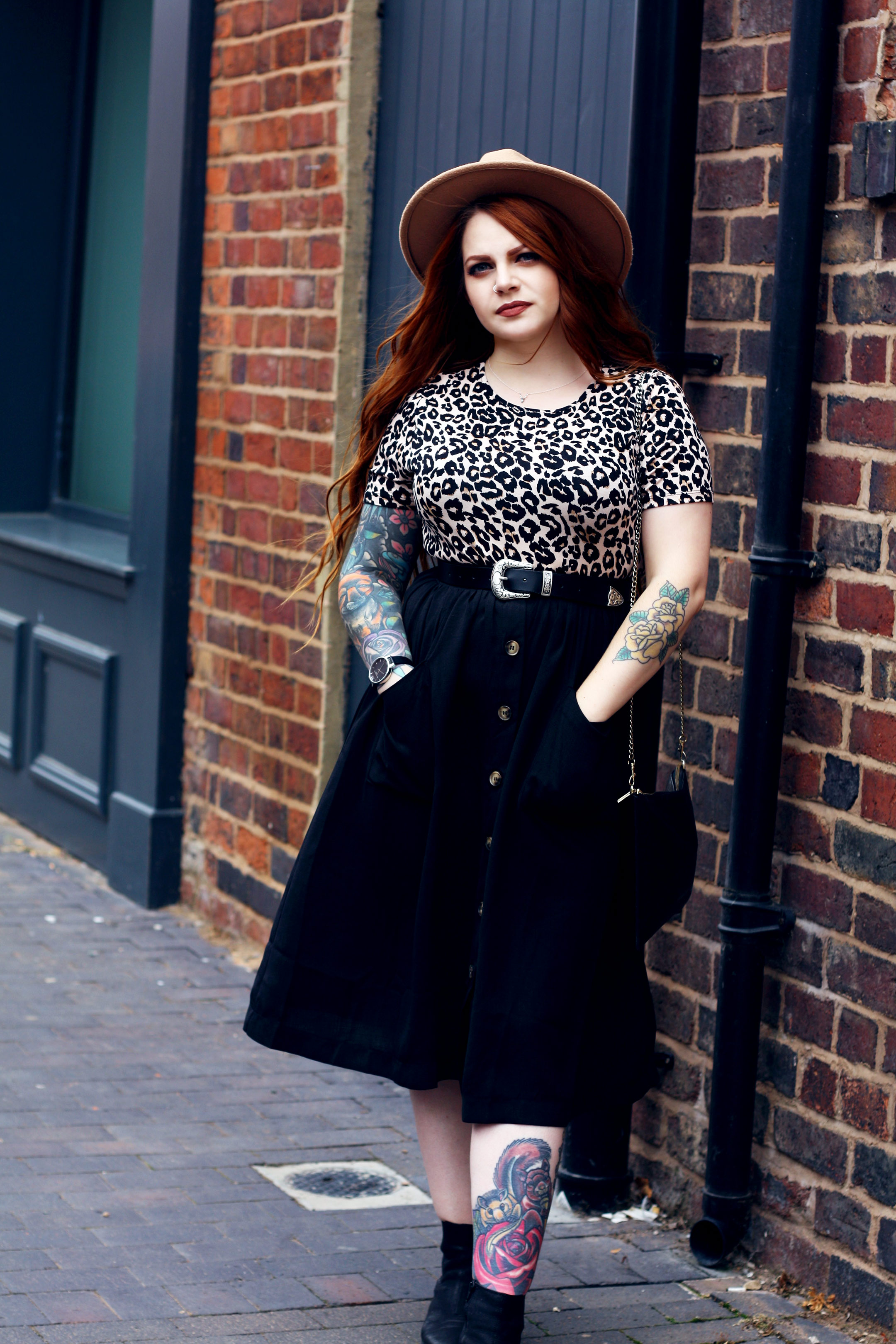 Stephieliza wearing Primark leopard print top & ASOS western belt for Autumn