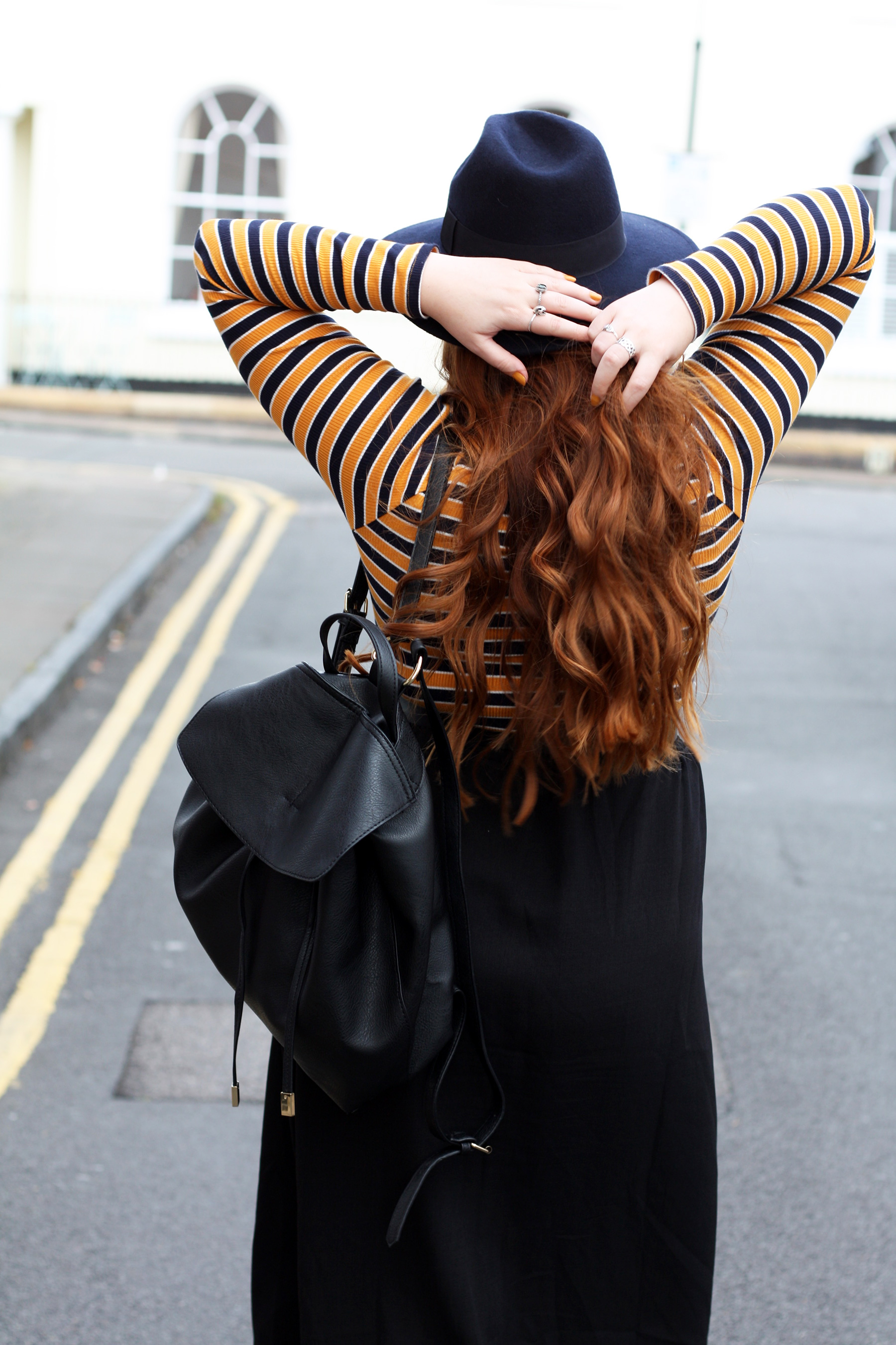 Stephieliza wearing minimal Accessorize Nikki Backpack